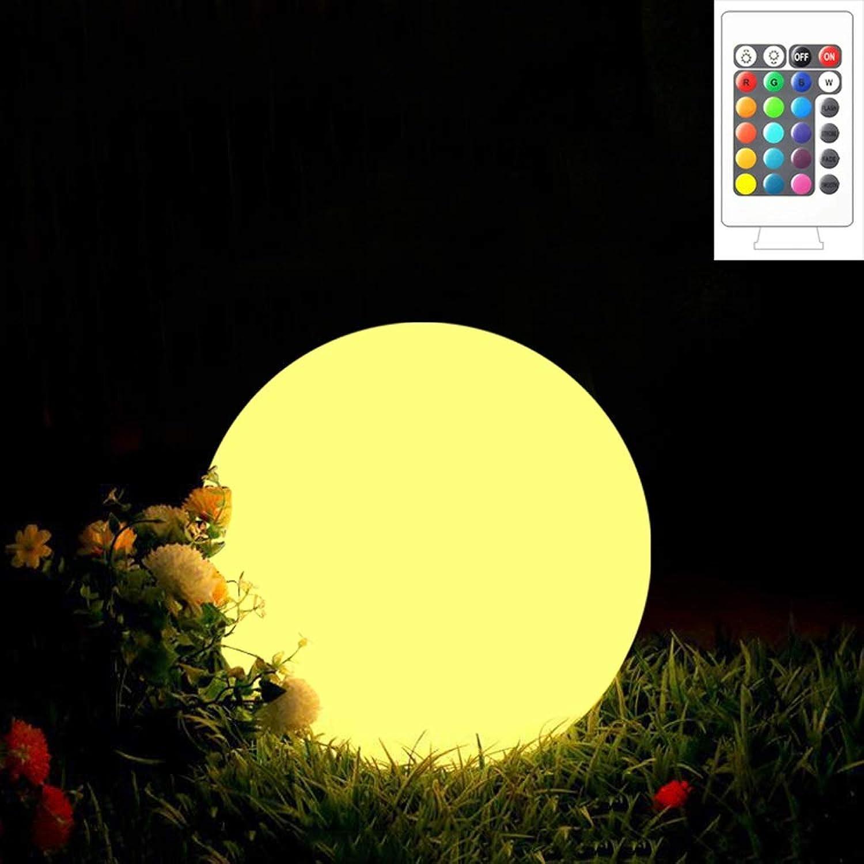 Wylolik Remote Farbwechsel Nachtlicht Beach Party Party Lichter Camping Sphrische Licht auf den Boden gestellt Kostenpflichtige 16 Farben Wasserdichte Rasenbeleuchtung Max 12W LED beleuchten Geschenk