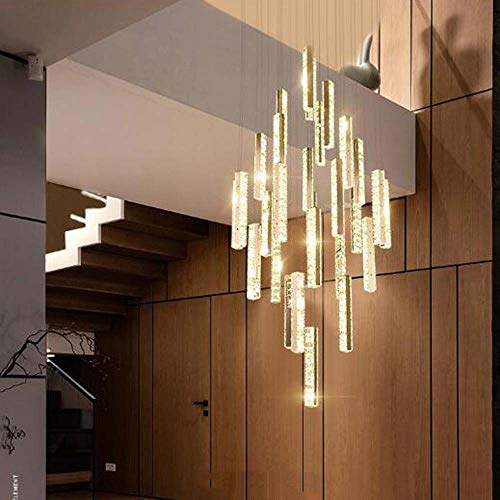 WWFF Exquis - Lámpara de salón para escalera, diseño de escalera con cristales en el salón de la terraza