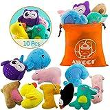 AWOOF 10 giocattoli per cani, giocattoli per dentizione per cuccioli e cani di piccola taglia, in cotone naturale e atossico
