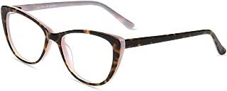Firmoo Cat Eye Blue Light Blocking Glasses,Vintage Inspired Women Computer Glasses, Chic Cateye Pink Tortoise Frame Eyeglasses