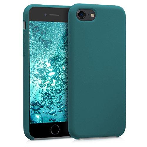 kwmobile Coque Compatible avec Apple iPhone 7/8 / Se (2020) - Coque Étui Silicone - Housse de téléphone pétrole Mat