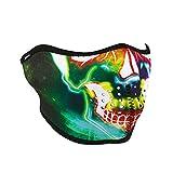 ZANheadgear WNFM098H Neoprene Half Face Mask, Neon Skull