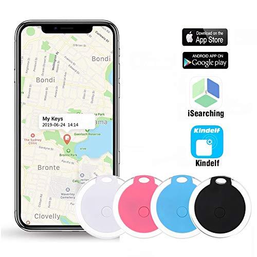 Key Finder, Afaneep Localizzatore Chiavi Bluetooth con APP Telecamera di Controllo e Funzione di Registrazione Promemoria Allarme, Posizione GPS Trackers 1 Pacco Blu