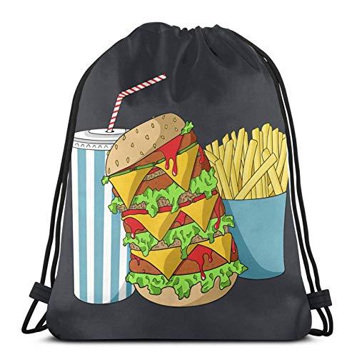 Bolsas de chatarra y una dieta de coca con cordón, ligeras, para gimnasio, deporte, bapa para viajes, playa, yoga