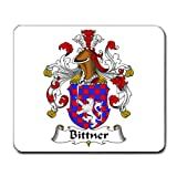 Bittner Family Crest Coat of Arms Mouse Pad