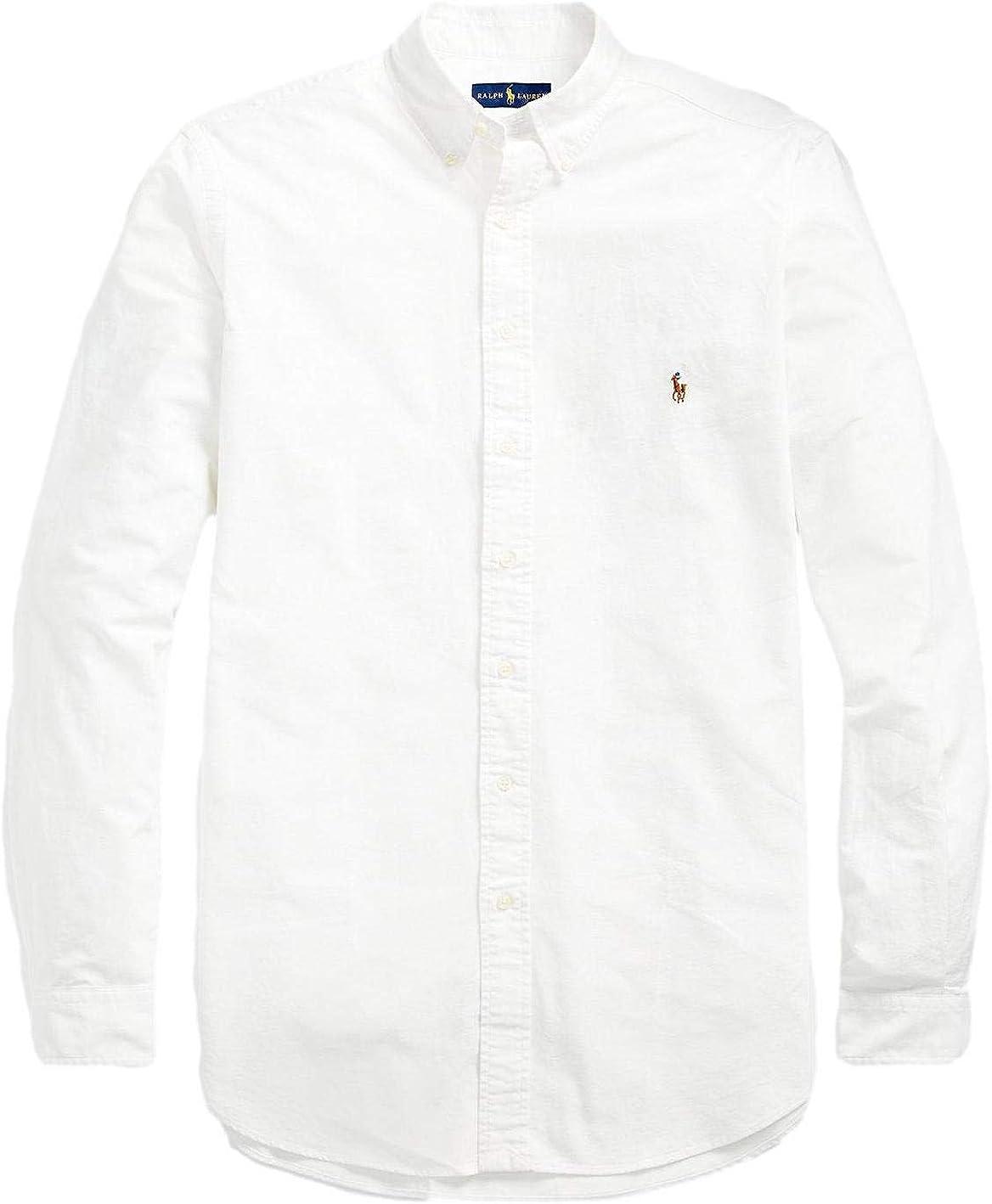 Polo Ralph Lauren Men's Big and Tall Long-Sleeve Solid Oxford Shirt (3LT)