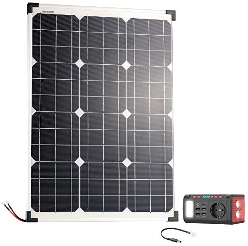 reVolt Solarstrom: Mini-Powerbank & Solar-Konverter mit Solarpanel, 24 Ah, 120 Watt (Solar Panels)