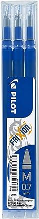 Pilot, Set de 3 recharges roller FriXion ball bleu