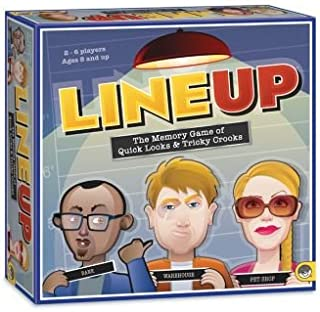MindWare LineUp – Stimulating Memory Board Game with a Great Playing Time and Comical Crime Mystery Suspense for Ages 8 and Up