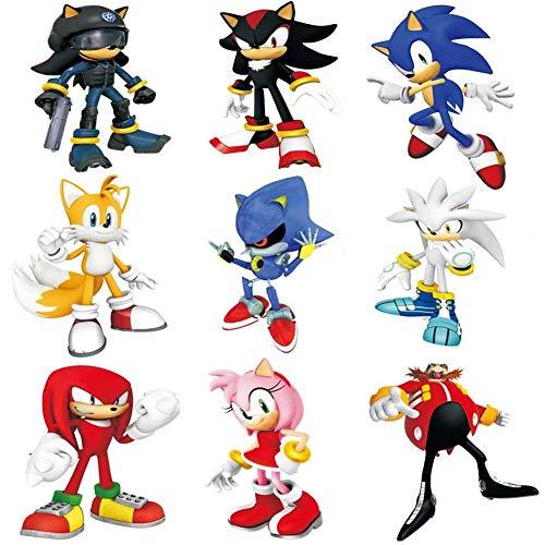 BAIBEI Pegatina Sonic Paquete, Pegatina de la Serie Tv, Regalos para Maleta, Portátil, Guitarra, Monopatín, Pegatinas de Juego de Anime Sonic