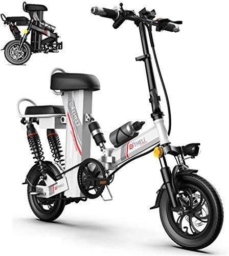 Bicicletas Eléctricas, Bicicleta eléctrica, Adulto de 12 pulgadas plegable portátil Vespa, 48V350W...