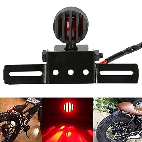 Piloto Trasero Moto, OSAN Luz Trasera Faro para Matricula Lámpara LED Luces de Freno para Harley Bobber Cafe Racer A
