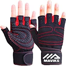 MAVIKS Weight Lifting Fitness Workout Gym Gloves with Wrist Wrap Straps for Men Women Exercise Gloves for Crossfit Training, Pull Ups, Weightlifting, Calisthenics, Powerlifting (Small)