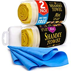 ✅ EXCELLENT ABSORBENCY – When you use our chamois cloth for car care, it will quickly absorb and hold large amounts of water leaving your car's finish cleaner than a whistle. With its sponge-like abilities, our shammy cloth for car care works great b...