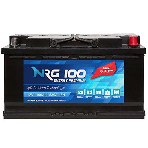 NRG Premium Autobatterie 12V 100Ah ersetzt 88AH 90AH 92AH 95AH Batterie