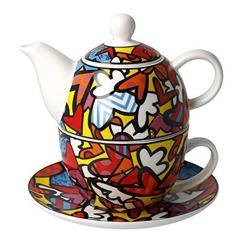 Romero Britto All We Need is Love Tea for One Set Neuheit 2020