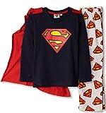 DC Batman, Superman Comic oficial de manga larga para niños Super Hero Pijamas Set con capa 100% algodón 3-10 años