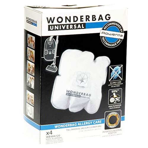 Wonderbag - Lot de 4 sacs aspirateurs «Allergy Care» pour aspirateur Rowenta