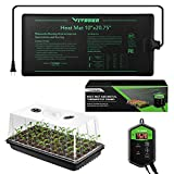 VIVOSUN Seed Starter Kit, 10x20 Inches Germination Combo with Seedling Heat Mat and Digital Thermostat Controller for Propagation and Greenhouse