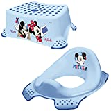 Keeeper 2-teiliges Set MICKEY MOUSE Schemel einstufig & WC-Sitz/Toilettensitz light blue