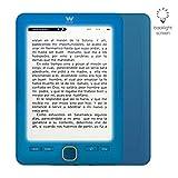 Woxter Scriba 195 Paperlight Blue - Lector de libros electrónicos de 6'1024 x 758, E-Ink Pearl, pantalla RETROILUMINADA, EPUB, PDF, micro SD, guarda más de 4000 libros, textura engomada, Color Azul