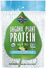 Garden of Life Organic Plant Protein Smooth Vanilla Powder, 10 Servings - Vegan, Grain Free & Gluten Free Plant Based Protein Shake with 1 Billion CFU Probiotics & Enzymes, 15g Protein