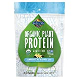 Garden of Life Organic Plant Protein Smooth Vanilla Powder, 10 Servings - Vegan, Grain Free & Gluten Free Plant Based Protein Shake with 1 Billion CFU Probiotics & Enzymes, Protein, White, 9.4 Oz