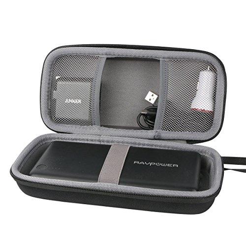 co2CREA Hart Reise Schutz Hülle Etui Tasche für RAVPower 26800mAh Externer Akku Powerbank iSmart USB Ladegerät (Nur Hülle ohne Ladegerät )