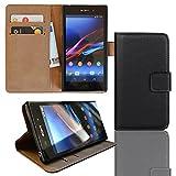 EximMobile Funda con tapa para Sony Xperia T3, color negro