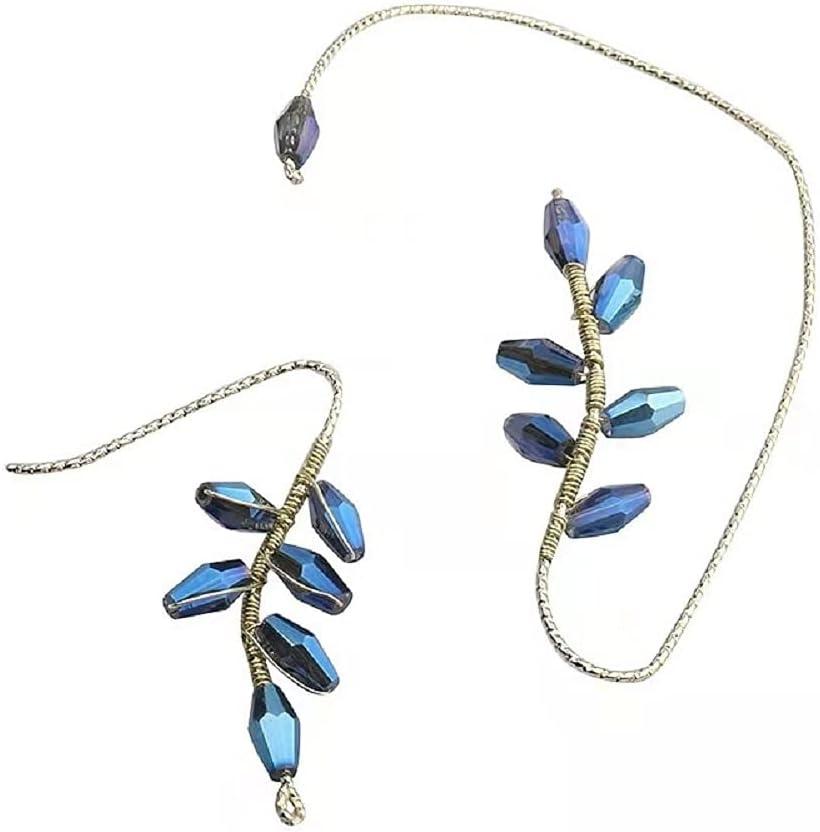 1 Pair Vintage Ear Cuff Earrings Wrap Around, Ear Wrap Crawler Hook Earrings, Non Piercing Jewelry for Women Girls (A)