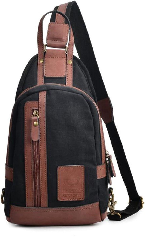 e5734adca725 New Look Mens Backpack Canvas Bookbag Upscale Casual Vintage ...