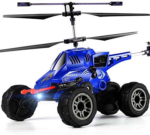 Darenbp Tre in Un Aereo RC Aereo Elicottero Proiettile Model Car Remote Control Car Ricaricabile Fighter Drone Automobile di accelerazione Anni Bambini 6-12 Toy Airplane