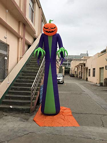 Halloween Ghost Tree Ghost Inflatable Inflatable Model Pumpkin Ghost Outdoor Garden Dress up Atmosphere Supplies (6ft Witch)