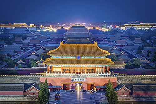 Rompecabezas Puzzle 1000 Piezas-Ciudad Prohibida, Beijing, China-Jigsaw Puzzles Infantiles Puzzle Adultos Colecciones y Regalos de cumpleaños-50x75cm