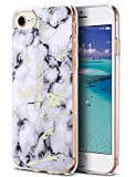 ULAK iPhone 8 Case Marble, iPhone 7 Case, iPhone 6 Case, Slim Designed Hybrid Soft TPU Shock Absorbing Bumper Cover Hard Anti- Scratch Case for Apple iPhone 8/7 / 6, 4.7 inch, Marble