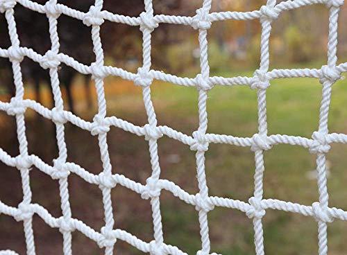 ZzWwYy Red de Escalada para Adultos Cuerda de cáñamo Cuerda Decorativa Red de Nylon Neta Parque de Atracciones Juguetes Cuerda de Red jardín balcón Puerta para balcón de riel-1x1m(3x3ft)