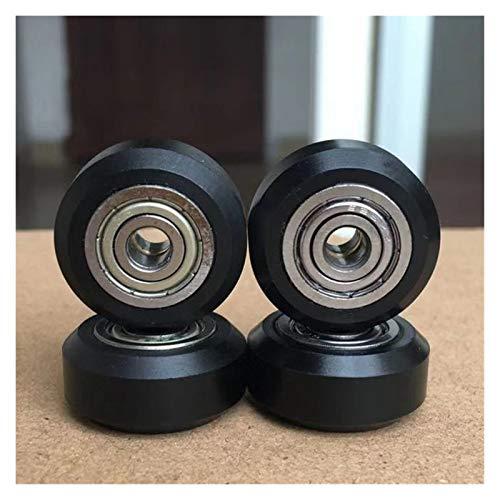 Zhang Asia Aptos for la 20Pcs / ranura POM rueda de plástico Poleas rodamientos de bolas 625ZZ 3D impresora Accesorios impresora piezas redondas engranaje más libre Perlin Parte V 3D ( Color : Black )