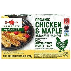 Applegate, Organic Chicken & Maple Breakfast Sausage, 7oz (Frozen)