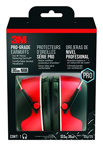 3M Pro-Grade Noise-Reducing Earmuff, NRR 30 dB