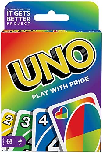 Mattel Games UNO Pride, Juego de Cartas de Orgullo LGBTQ+ (Mattel GTH19)