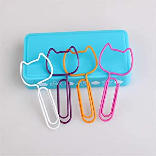 Cat Head Shape Paper Clips/Bookmarks Dispensers Office Products (12)