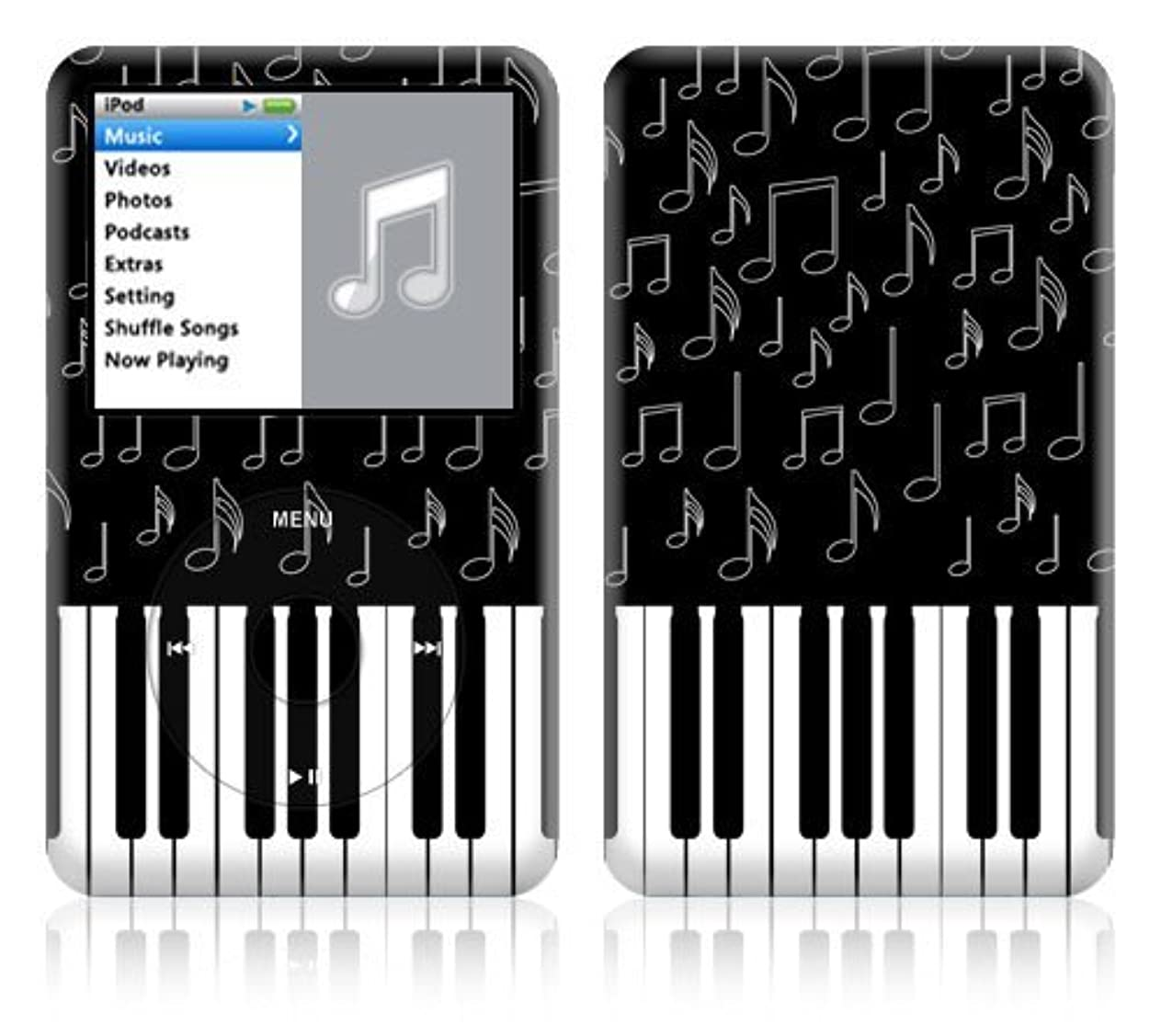 不要おもてなしオープナーApple iPod classic スキンシール [IPC-YU38 I Love ピアノ ]