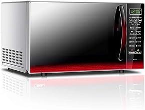 JINRU Microondas De Encimera Retro, 700 Vatios, Acero Laminado En Frío, 5 Micropotencia, Descongelación Y Cocción Automática, Pantalla LED, Bloqueo para Niños