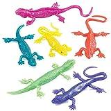 Baker Ross - Lagartos Elásticos Pequeños (Pack de 8) -Juguetes infantiles para bolsas de cotillón o piñatas (P515)