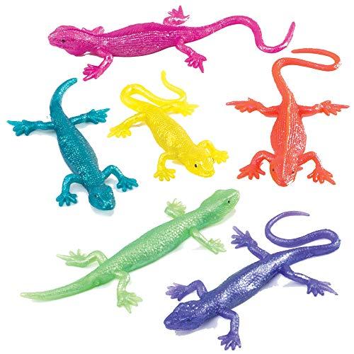 Baker Ross Stretch-Eidechsen - Spielzeug für Kinder als Mitgebsel und Preis beim Kindergeburtstag (8 Stück)