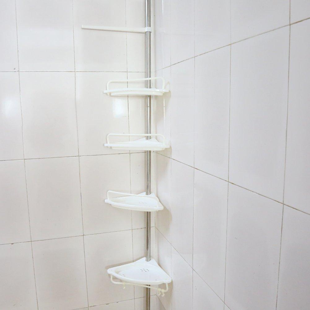 EBTOOLS Estantería de Esquina de Baño 4 Capas Cesta de Almacenamiento de Ducha Estante Triangular de Cocina Baño: Amazon.es: Hogar
