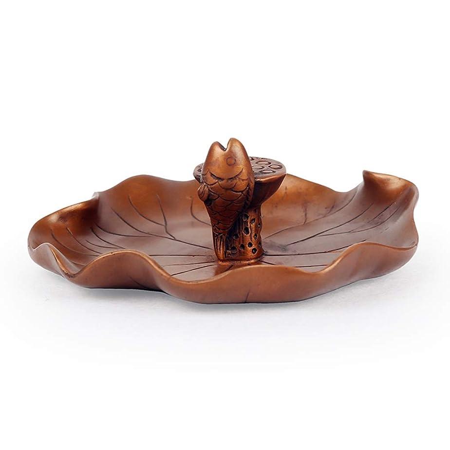 自動位置づける接辞芳香器?アロマバーナー 還流香炉ホーム香りの良い禅禅ラッキー鑑賞新しいクリエイティブアガーウッド香バーナー装飾 アロマバーナー (Color : Brass)