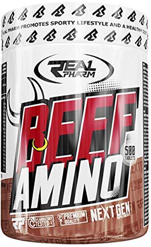 Real Pharm BEEF Amino 500 Tablet Amino Aminosäuren 500 Tabletten Proteinhydrolysat aus Rindfleisch