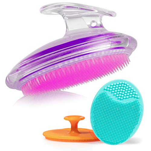 Exfoliating Brush For Razor Bumps and Ingrown Hair Treatment, Silicone Face Scrubbers,...