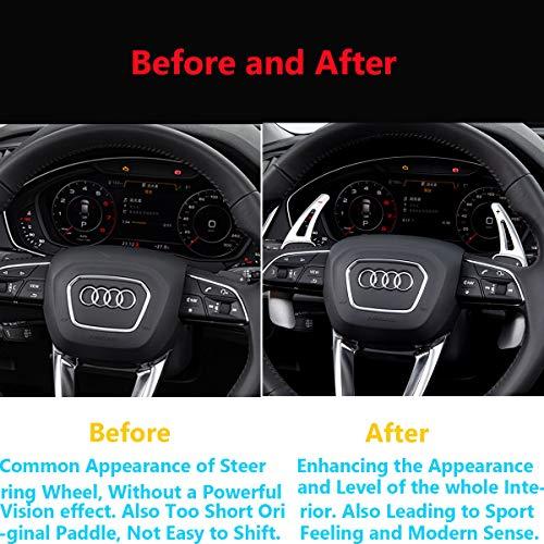 Red Topsmart Carbon Fiber Car Steering Wheel Shift Blade Paddle Shifter Extension For Audi 2016+